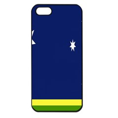 Flag Star Blue Green Yellow Apple Iphone 5 Seamless Case (black) by Mariart