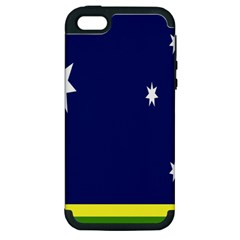 Flag Star Blue Green Yellow Apple Iphone 5 Hardshell Case (pc+silicone) by Mariart