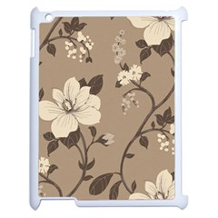 Floral Flower Rose Leaf Grey Apple Ipad 2 Case (white) by Mariart
