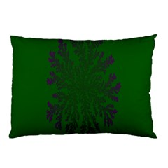 Dendron Diffusion Aggregation Flower Floral Leaf Green Purple Pillow Case by Mariart