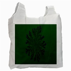 Dendron Diffusion Aggregation Flower Floral Leaf Green Purple Recycle Bag (One Side) by Mariart