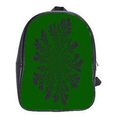Dendron Diffusion Aggregation Flower Floral Leaf Green Purple School Bags(large)  by Mariart