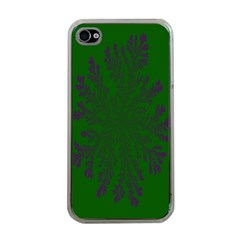 Dendron Diffusion Aggregation Flower Floral Leaf Green Purple Apple Iphone 4 Case (clear) by Mariart