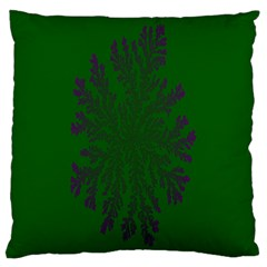 Dendron Diffusion Aggregation Flower Floral Leaf Green Purple Large Flano Cushion Case (two Sides) by Mariart