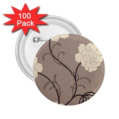 Flower Floral Black Grey Rose 2 25  Buttons (100 Pack)  by Mariart