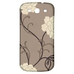 Flower Floral Black Grey Rose Samsung Galaxy S3 S Iii Classic Hardshell Back Case by Mariart