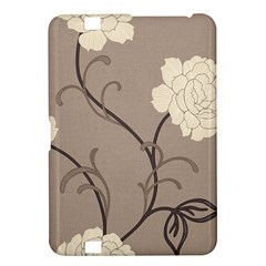 Flower Floral Black Grey Rose Kindle Fire Hd 8 9  by Mariart