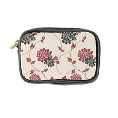 Flower Floral Black Pink Coin Purse by Mariart