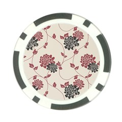 Flower Floral Black Pink Poker Chip Card Guard (10 Pack) by Mariart