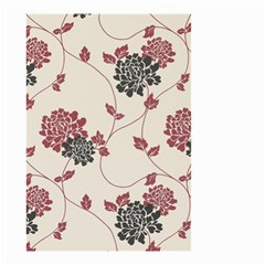 Flower Floral Black Pink Small Garden Flag (two Sides) by Mariart