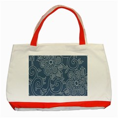 Flower Floral Blue Rose Star Classic Tote Bag (red) by Mariart