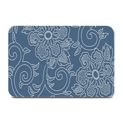 Flower Floral Blue Rose Star Plate Mats by Mariart