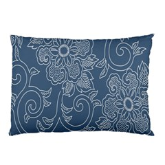 Flower Floral Blue Rose Star Pillow Case by Mariart