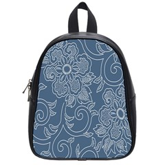 Flower Floral Blue Rose Star School Bags (small)  by Mariart