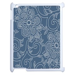 Flower Floral Blue Rose Star Apple Ipad 2 Case (white) by Mariart