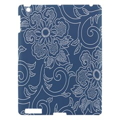 Flower Floral Blue Rose Star Apple Ipad 3/4 Hardshell Case by Mariart