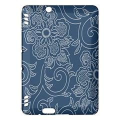 Flower Floral Blue Rose Star Kindle Fire Hdx Hardshell Case by Mariart