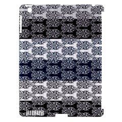 Digital Print Scrapbook Flower Leaf Colorgray Black Purple Blue Apple Ipad 3/4 Hardshell Case (compatible With Smart Cover) by Mariart