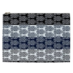 Digital Print Scrapbook Flower Leaf Colorgray Black Purple Blue Cosmetic Bag (xxl)  by Mariart
