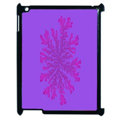 Dendron Diffusion Aggregation Flower Floral Leaf Red Purple Apple Ipad 2 Case (black) by Mariart