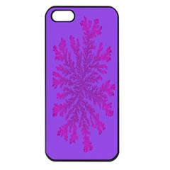 Dendron Diffusion Aggregation Flower Floral Leaf Red Purple Apple Iphone 5 Seamless Case (black) by Mariart