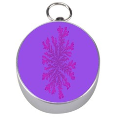 Dendron Diffusion Aggregation Flower Floral Leaf Red Purple Silver Compasses by Mariart