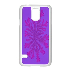 Dendron Diffusion Aggregation Flower Floral Leaf Red Purple Samsung Galaxy S5 Case (white) by Mariart