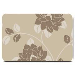 Flower Floral Grey Rose Leaf Large Doormat  by Mariart