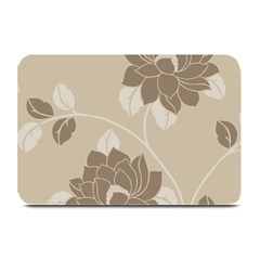 Flower Floral Grey Rose Leaf Plate Mats by Mariart