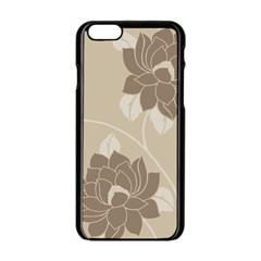 Flower Floral Grey Rose Leaf Apple Iphone 6/6s Black Enamel Case by Mariart