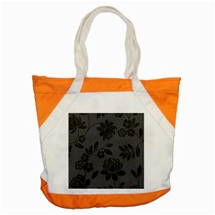 Flower Floral Rose Black Accent Tote Bag by Mariart