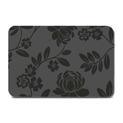 Flower Floral Rose Black Plate Mats by Mariart