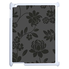 Flower Floral Rose Black Apple Ipad 2 Case (white) by Mariart