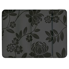 Flower Floral Rose Black Samsung Galaxy Tab 7  P1000 Flip Case by Mariart