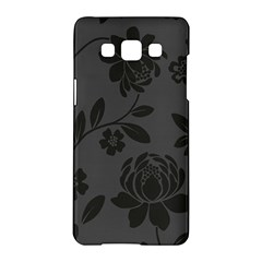 Flower Floral Rose Black Samsung Galaxy A5 Hardshell Case  by Mariart