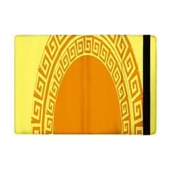 Greek Ornament Shapes Large Yellow Orange Apple Ipad Mini Flip Case by Mariart