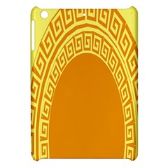 Greek Ornament Shapes Large Yellow Orange Apple Ipad Mini Hardshell Case by Mariart