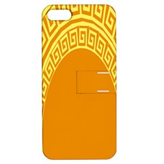 Greek Ornament Shapes Large Yellow Orange Apple Iphone 5 Hardshell Case With Stand by Mariart