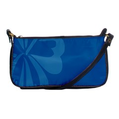 Hibiscus Sakura Classic Blue Shoulder Clutch Bags by Mariart