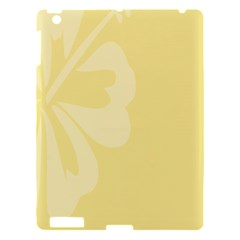 Hibiscus Custard Yellow Apple Ipad 3/4 Hardshell Case by Mariart
