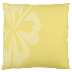 Hibiscus Custard Yellow Large Cushion Case (one Side) by Mariart