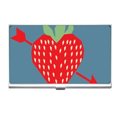 Fruit Red Strawberry Business Card Holders by Mariart