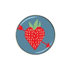 Fruit Red Strawberry Hat Clip Ball Marker (4 Pack) by Mariart