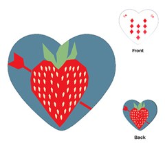 Fruit Red Strawberry Playing Cards (heart)  by Mariart