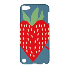 Fruit Red Strawberry Apple Ipod Touch 5 Hardshell Case by Mariart