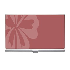 Hibiscus Sakura Red Business Card Holders by Mariart