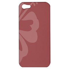 Hibiscus Sakura Red Apple Iphone 5 Hardshell Case by Mariart