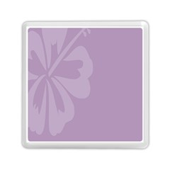 Hibiscus Sakura Lavender Herb Purple Memory Card Reader (square)  by Mariart