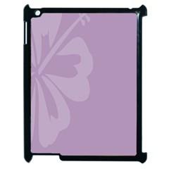 Hibiscus Sakura Lavender Herb Purple Apple Ipad 2 Case (black) by Mariart