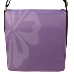 Hibiscus Sakura Lavender Herb Purple Flap Messenger Bag (s) by Mariart